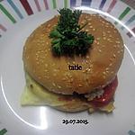 recette Hamburger au filets de truite fumée.