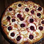 recette tarte aux pommes et aux cerises caramélisées