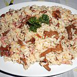 recette RISOTTO JAMBON GIROLLES