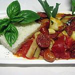 recette Chorizo aux légumes .
