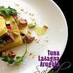 recette Lasagnes au thon et à la roquette