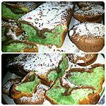 recette Cake marbré menthe chocolat