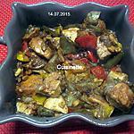 recette Légumes variés aux cubes de poulet.