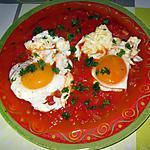 recette Oeufs sur une fondue de tomates