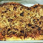 recette PIZZA POIVRONS CHORIZO