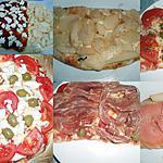 recette PIZZA DUO : MASCARPONE GORGONZOLA POIRE SAUMON/TOMATE MOZZA CHIFFONNADE DE JAMBON D'AOSTE