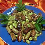 recette Triplette de saucisses aux fèves.