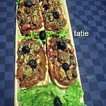 recette Tartine au thon/moules/parmesan.