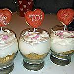 recette Verrine banane curd coeur nutella