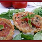 recette Tartelettes tomates-Mozzarella-Basilic.