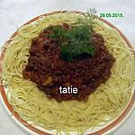 recette Spaghettis bolognaise.