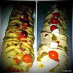 recette Tresse feuilletée au pesto et à la tomate