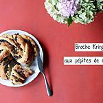 recette Brioche Kringle aux pépites de chocolat