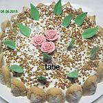 recette Gâteau.framboises. chocolat blanc praliné.
