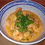 recette Crevettes Thaï au curry rouge