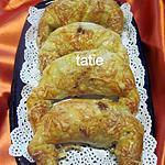 recette Croissants au jambon et olives noires.