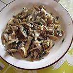 recette Pleurotes sautées à l'ail et au persil