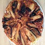 recette tarte renversé aux endives caramélisé, allumettes de jambon, saint marcelin