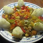 recette Topinambours accompagnés de légumes.