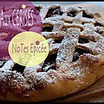 recette ** Une tarte aux cerises ( cherry pie) aux notes épicées**