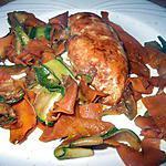 recette Filet de poulet en marinade et tagliatelles de légumes