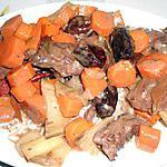 recette RAGOUT DE BOEUF CAROTTES PRUNEAUX