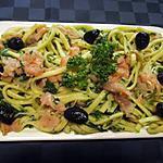 recette Spaetzles au saumon et épinards.