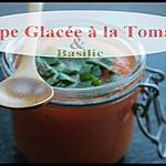 ** Soupe Glacée , frappée & légère avec des Tomates  au basilic **