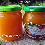 recette Confipote allégée aux abricots.