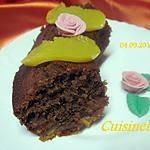 recette Gâteau chocolat et de pêches.