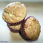 recette Muffins au chocolat blanc & au beurre de cacahuètes