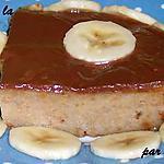 recette Pudding à la Banane, nappé de crème Ganache