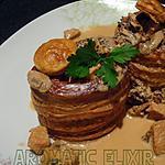 recette Vol- au- vent  aux champignons