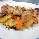 recette Poulet et légumes rotis au miel citron curry