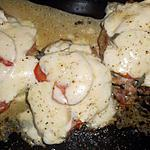 recette Cotes de porc échine a la mozzarella fondante