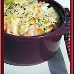 recette Gratin de pommes de terre aux deux saumons