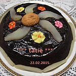 recette Gâteau au chocolat et poires.micro-ondes.