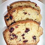 recette Cake à la crème d'amandes & aux cranberries