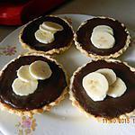 recette Tartelettes banane chocolat