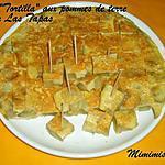 recette La  Tortilla  aux pommes de terre (omelette espagnole) pour Las Tapas chapitre 3