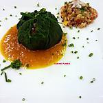 recette Ballotine de Consoude au quinoa, jus de courgette au curcuma  fleur de Bourrache