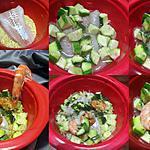 recette Cocotte au cabillaud et crevettes.régime.micro-ondes.