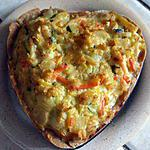 recette Tarte salée colorée ou l'appel du soleil dans les assiettes!!!