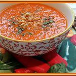 recette Soupe de tomates et poivrons