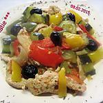 recette Lamelles de dinde aux légumes du soleil.