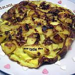 recette Omelettes aux pommes sucrées.