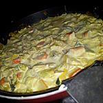 recette Poêlée de poireaux et surimi au curry