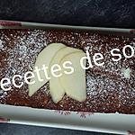 recette Cake aux poires et chocolat