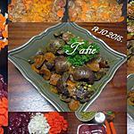 recette rognons de porc aux carottes et curcuma.
