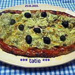 recette Pizza au jambon.champignons. emmental.